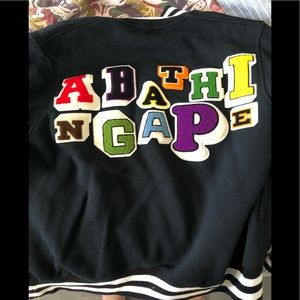 A Bathing Ape varsity/bomber jacket